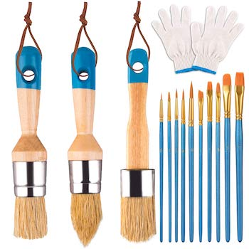 Wxj13 chalk and wax paint brushes set