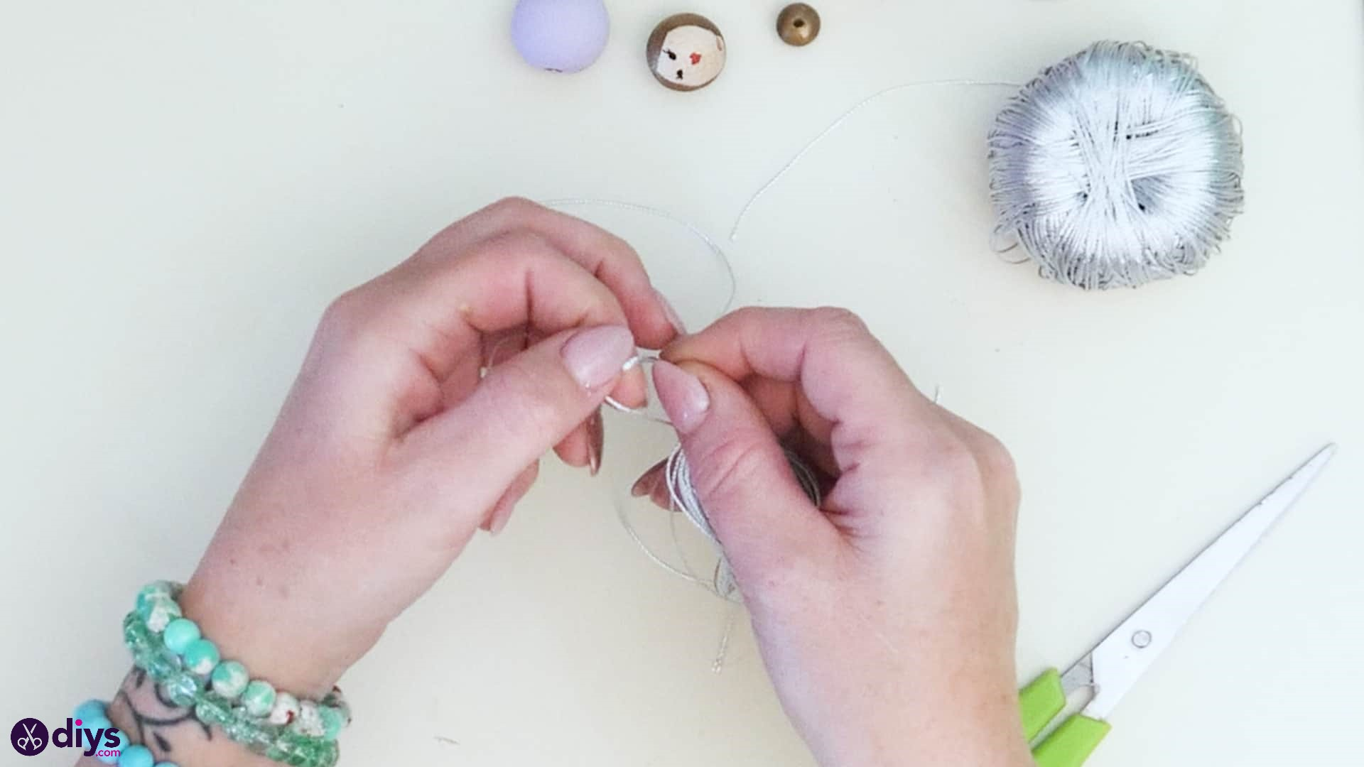 Wooden pearl doll step 4b