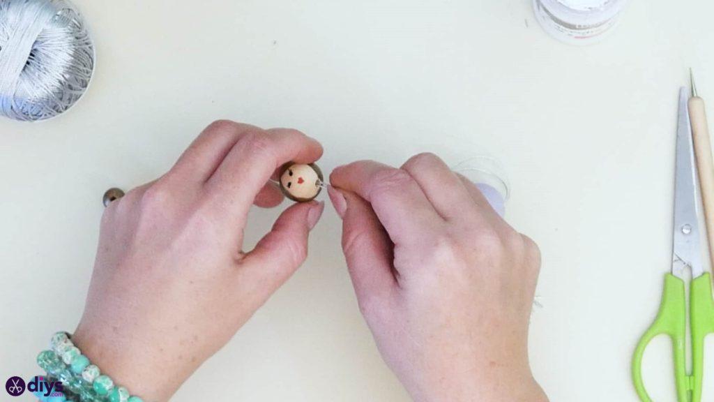 عروسک مروارید چوبی مرحله 5a