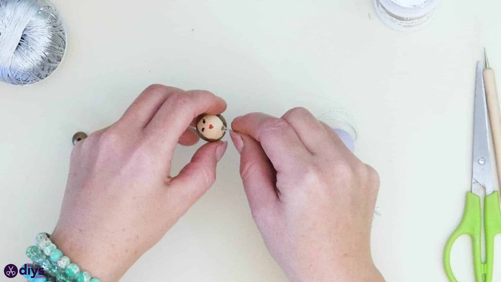 Wooden pearl doll step 5a