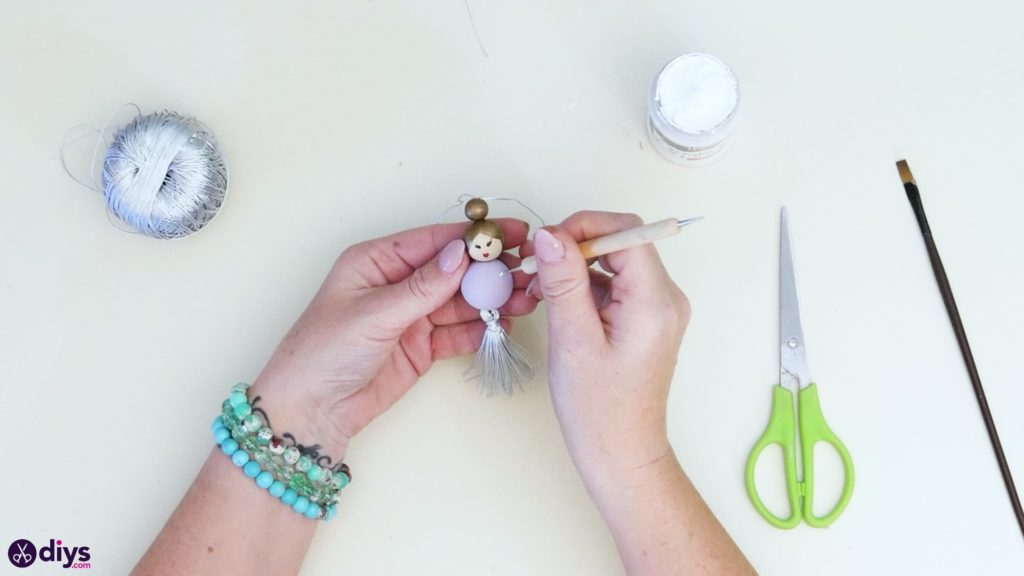 Wooden pearl doll step 6