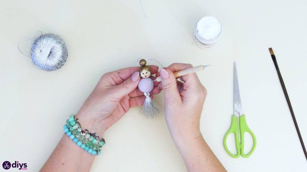 عروسک مروارید چوبی مرحله 6