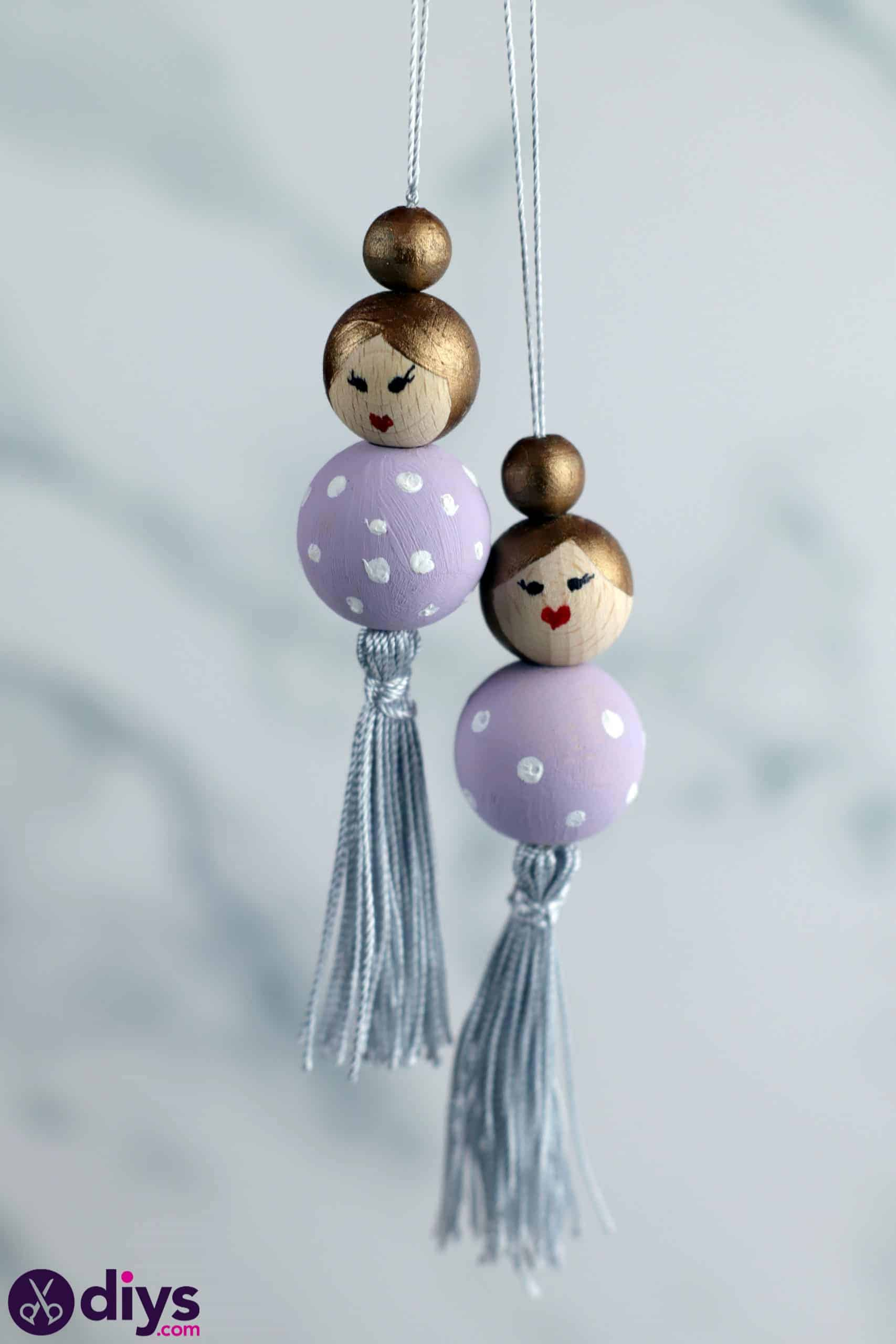 Wooden pearl doll