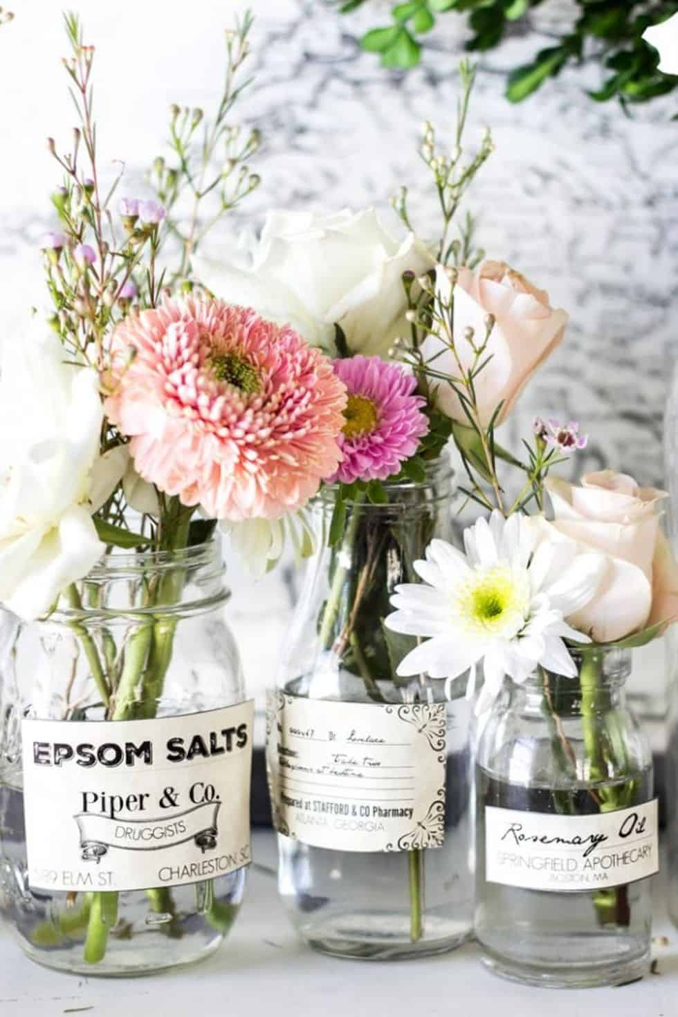 Apothecary jar vases