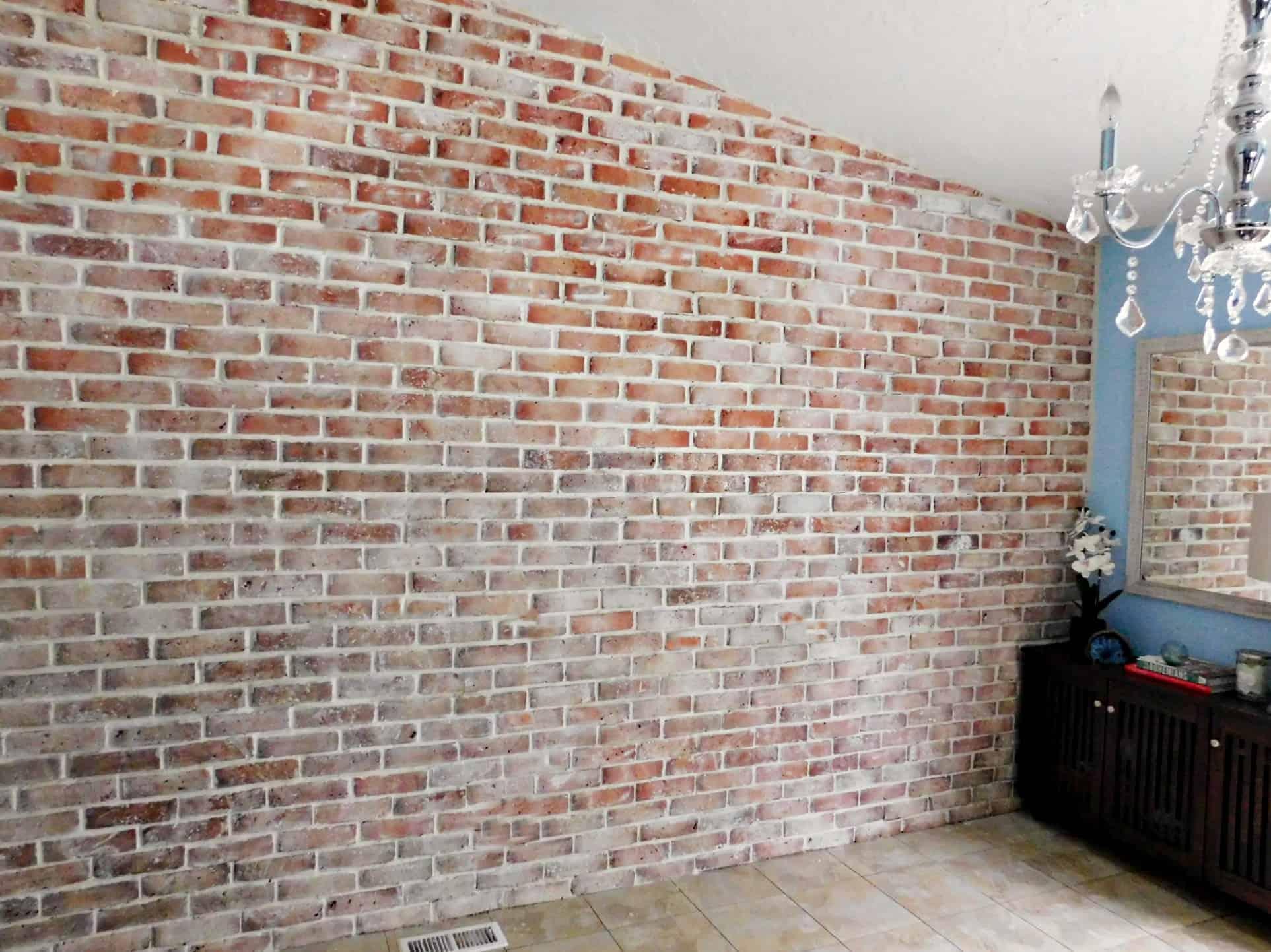 Brick accent wall diy