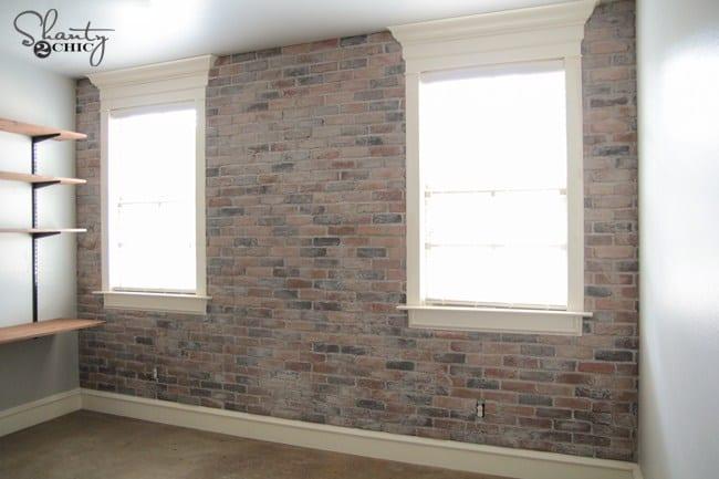 Diy thin brick wall accent