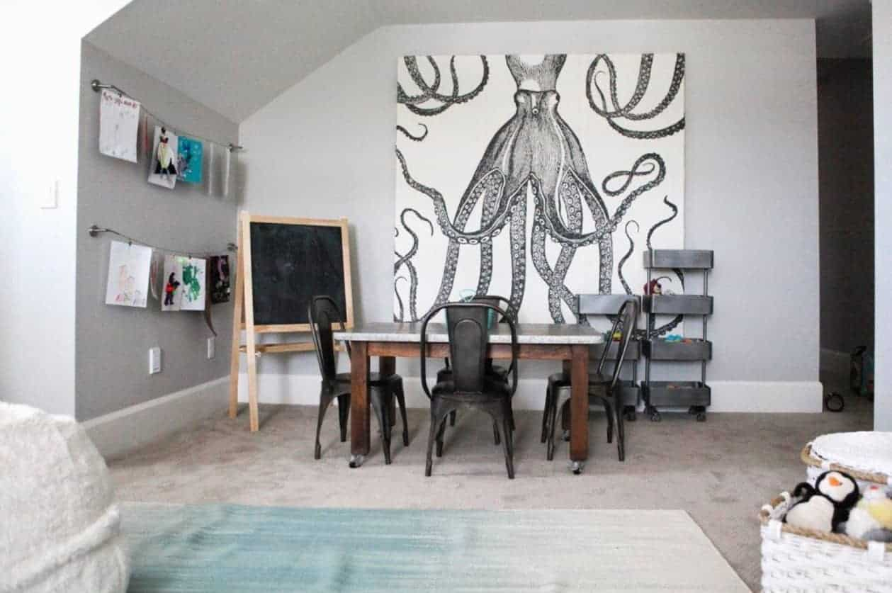 Extra large art to create accent wall