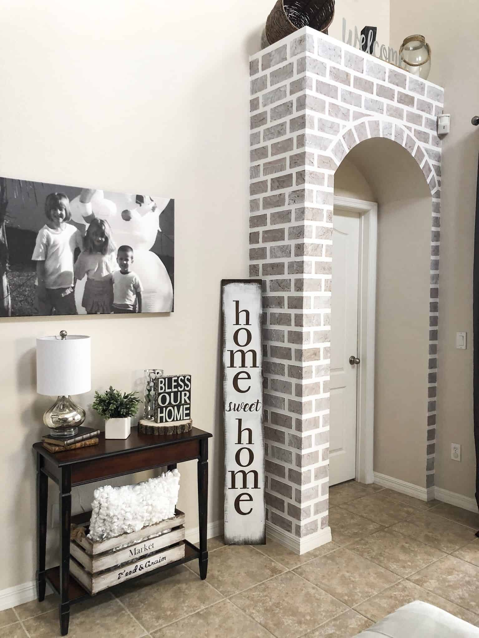 How to create a faux accent brick wall