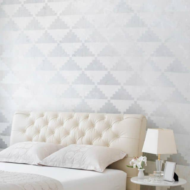 Stencil accent wall idea