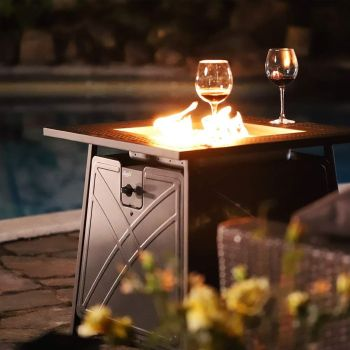 Bali outdoors firepit lp gas fireplace 28 square table