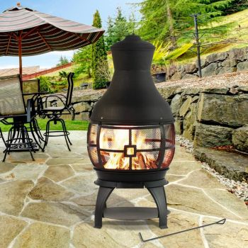 Bali outdoors wood burning chimenea