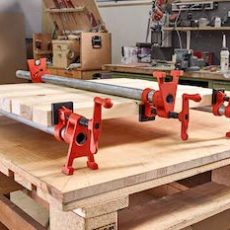 Bessey 3/4-inch H-style pipe clamps