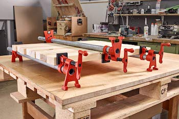 Bessey 3:4 inch h style pipe clamps