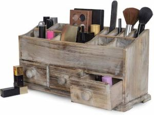 Besti wooden cosmetic storage
