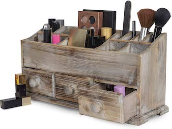 Besti wooden cosmetic storage
