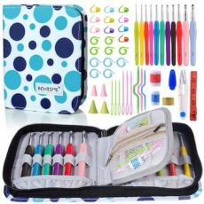 Bontime crochet hook set, case, and kit