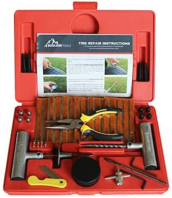 Boulder tools heavy duty tire repair kit for cars and trucks