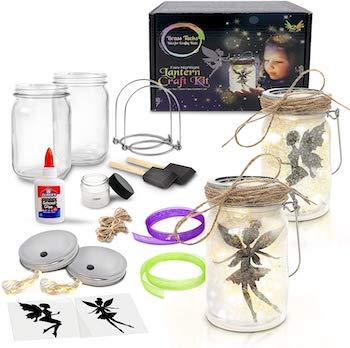 Brass tacks mason jar lantern kit