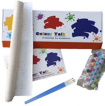 Colour talk oil painting by numbers kit