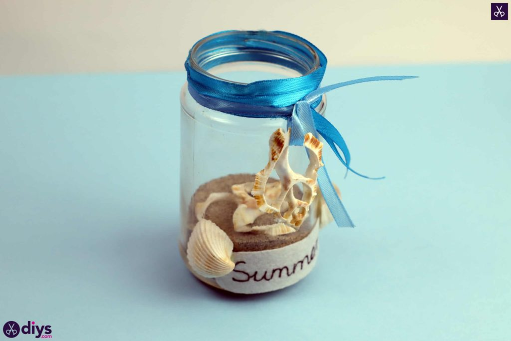 Diy beach inspired mason jar decor for summer