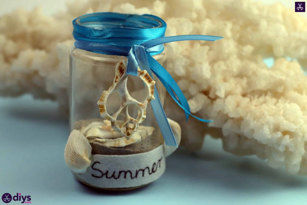 Diy beach inspired mason jar decor project