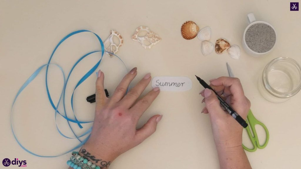 Diy beach inspired mason jar decor step 1