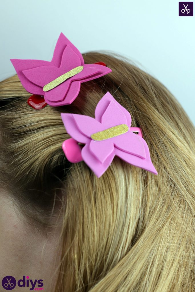 DIY Pink Butterfly Barrette