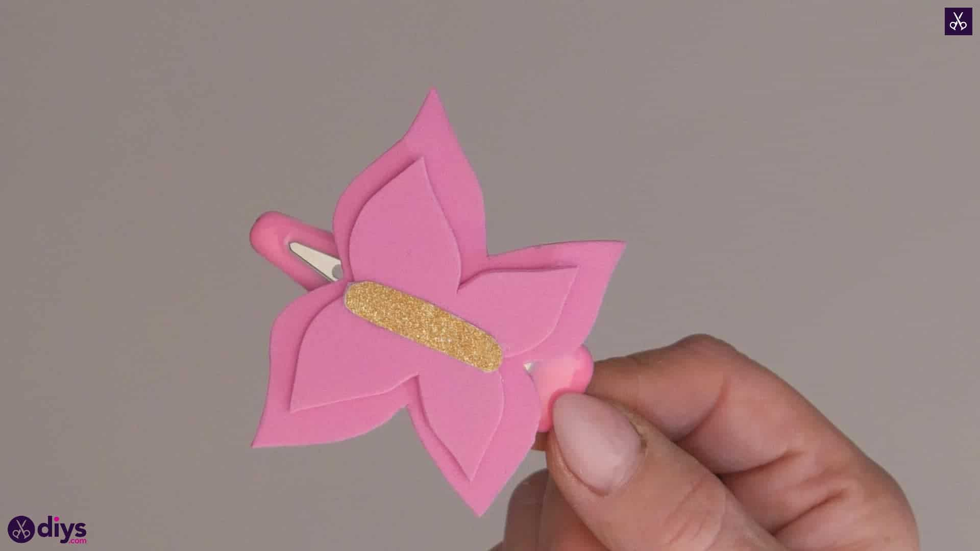 Diy butterfly barrette colorful