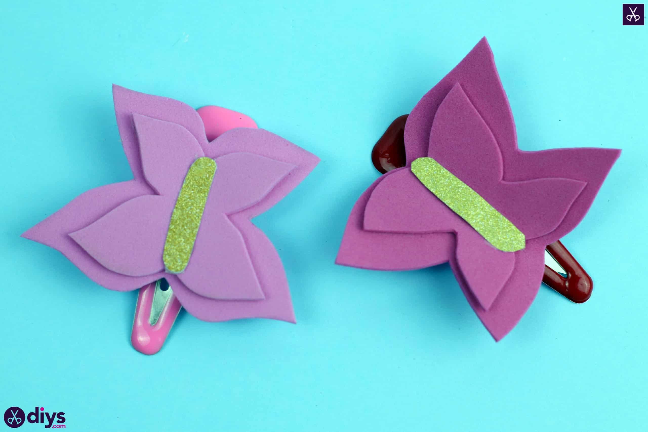 Diy butterfly barrette project