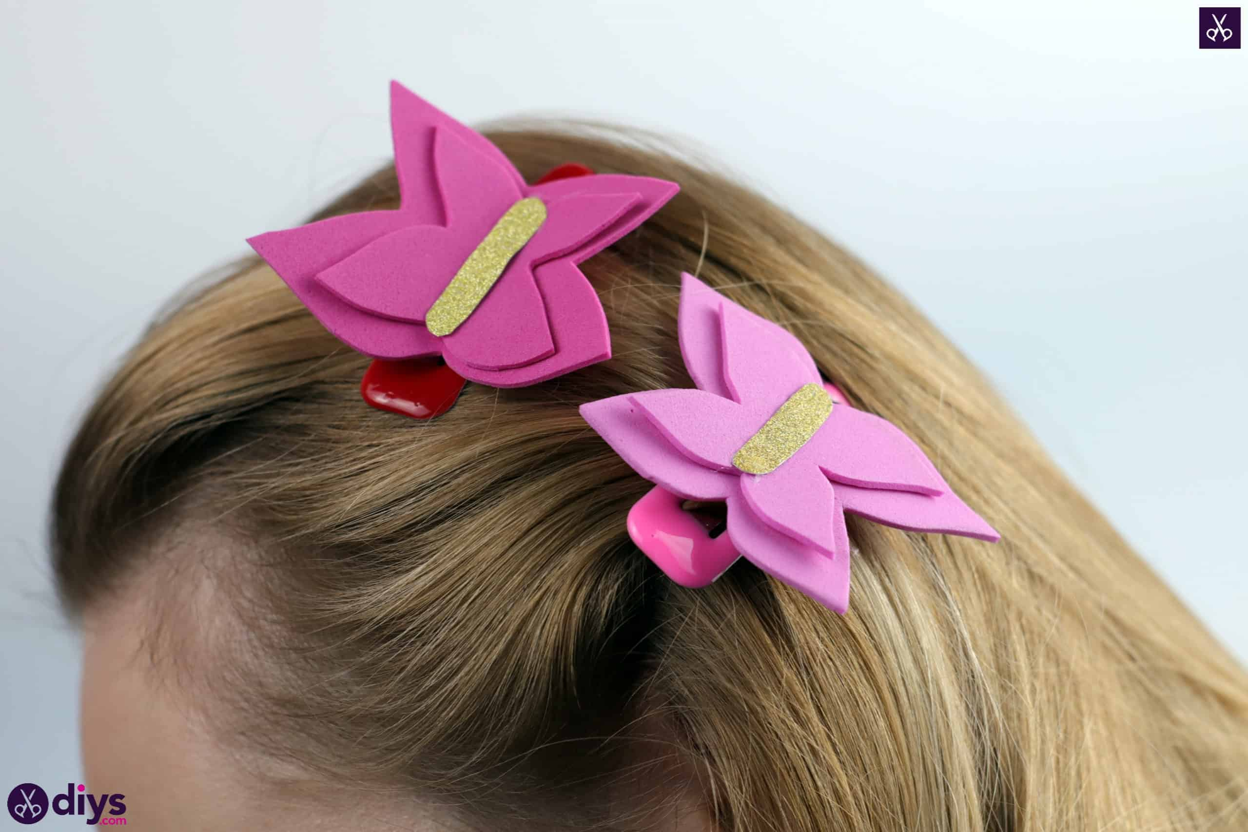 Diy butterfly barrette simple project for fashion