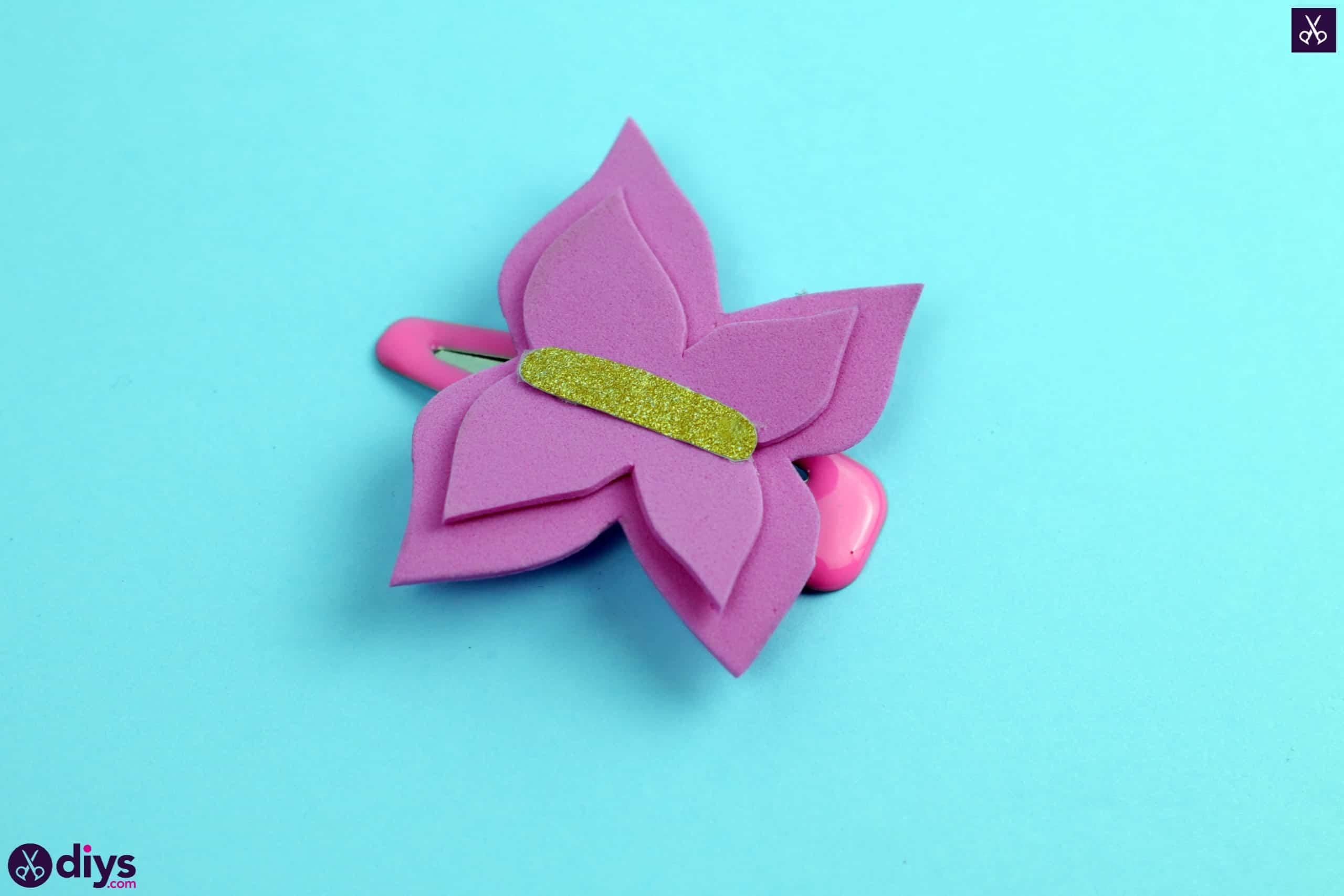 Diy butterfly barrette simple project