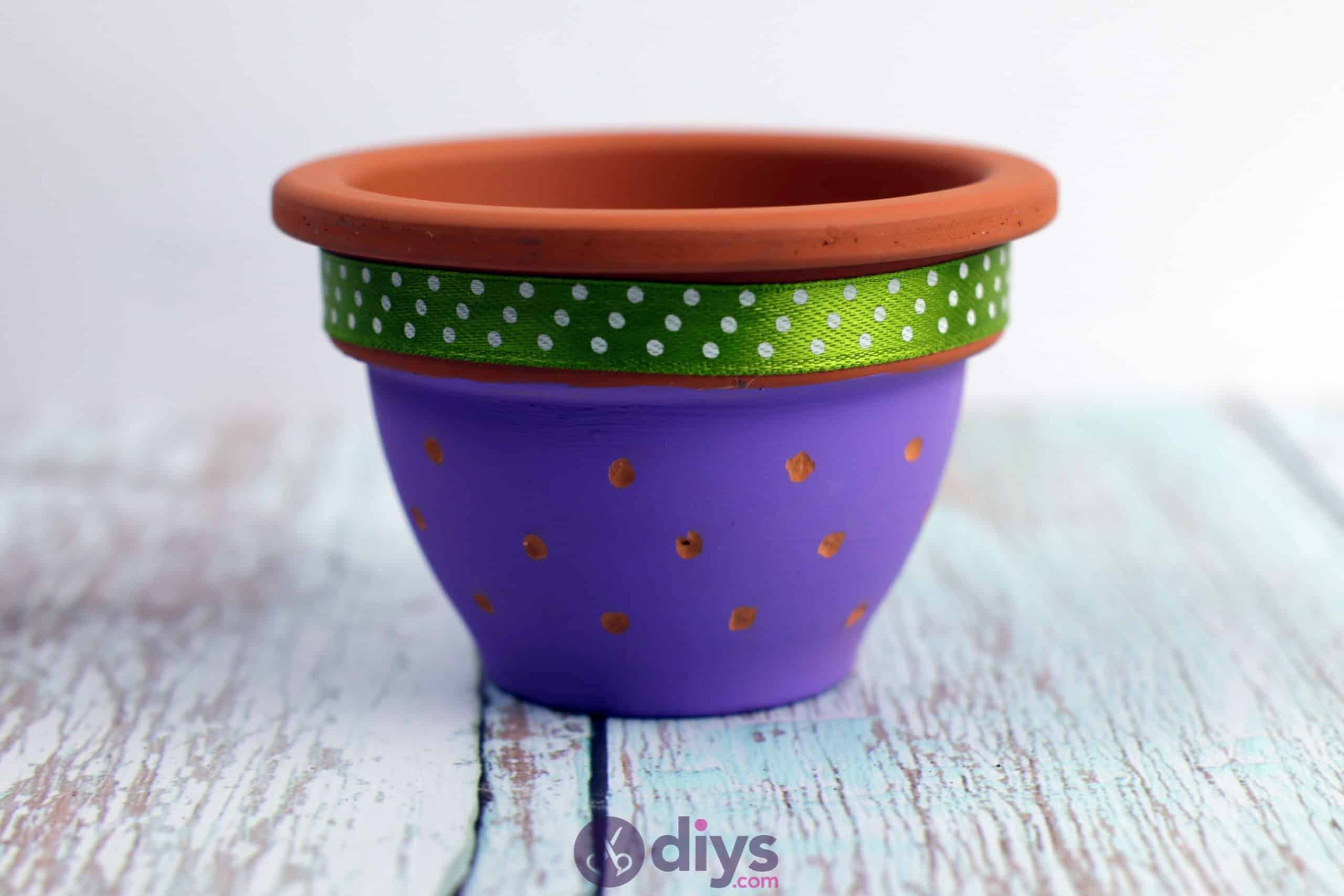Diy colourful flower pot