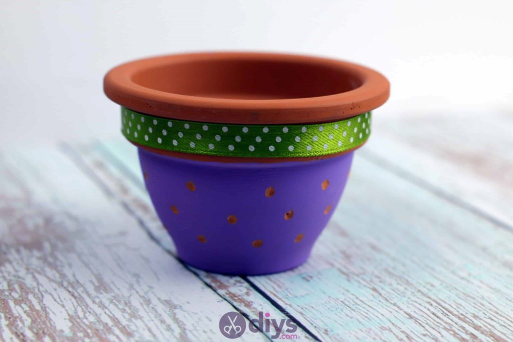 Diy colourful flower pot colorful