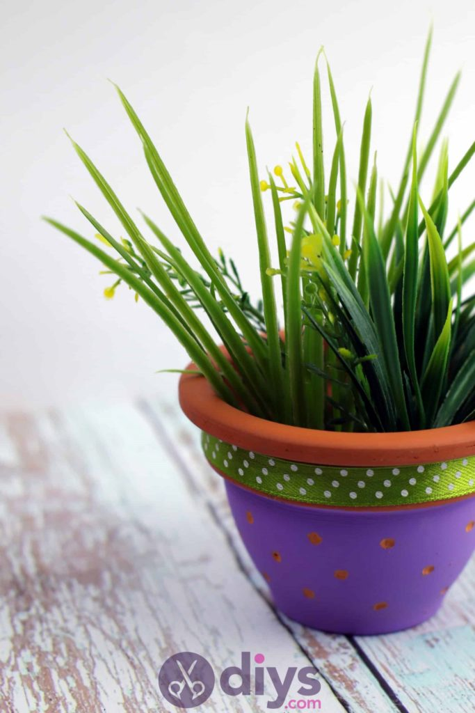 Diy colourful flower pot fresh design