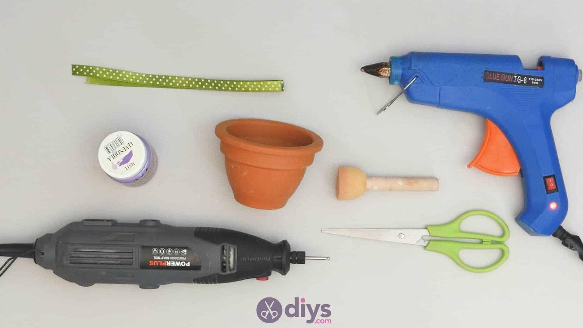 Diy colourful flower pot materials