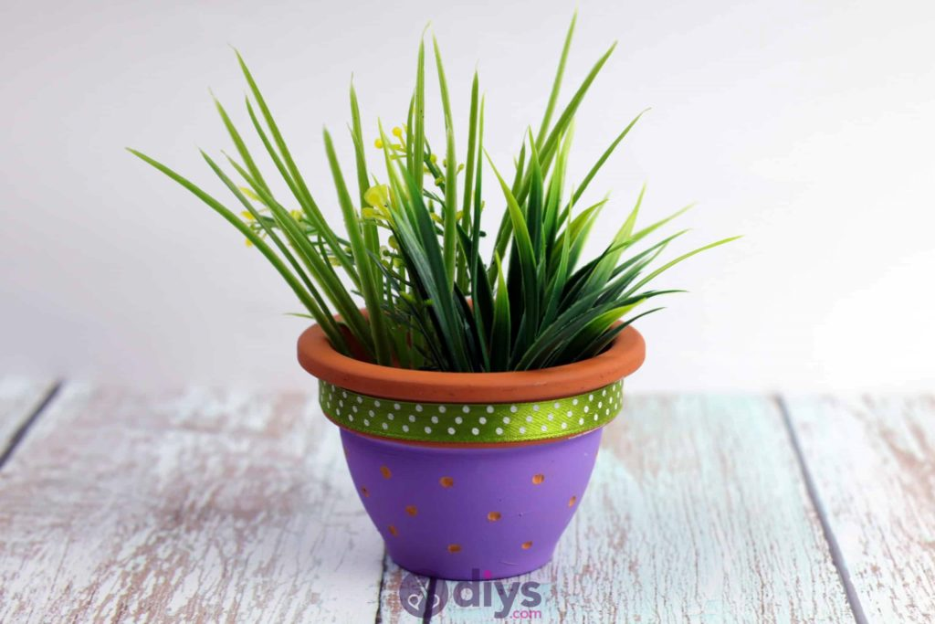 Diy colourful flower pot project