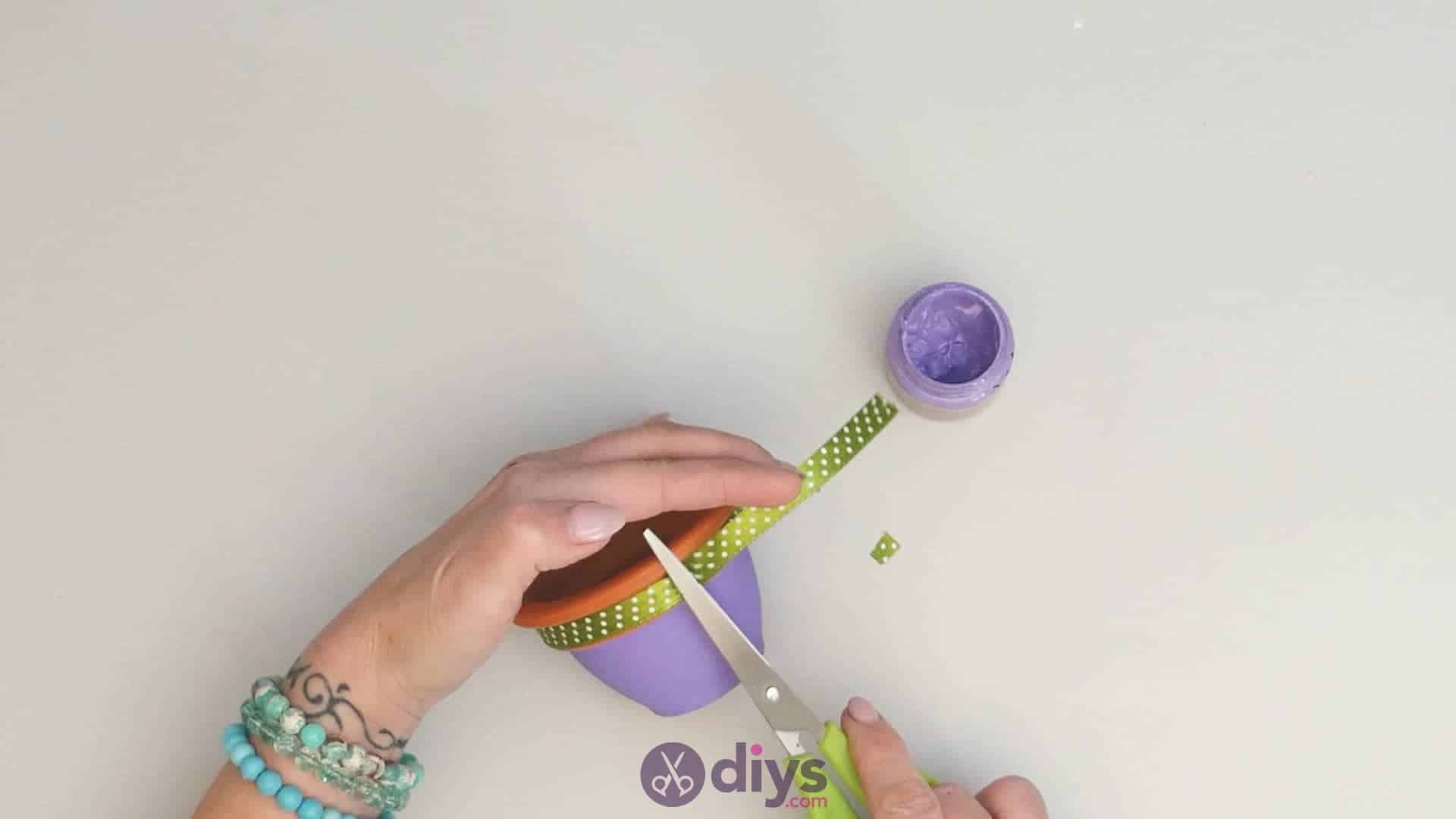 Diy colourful flower pot step 3d