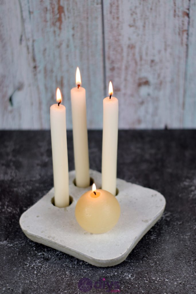 Diy Minimalist Concrete Candle Holder Plate