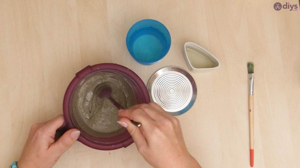 Diy concrete cup holder step 2a