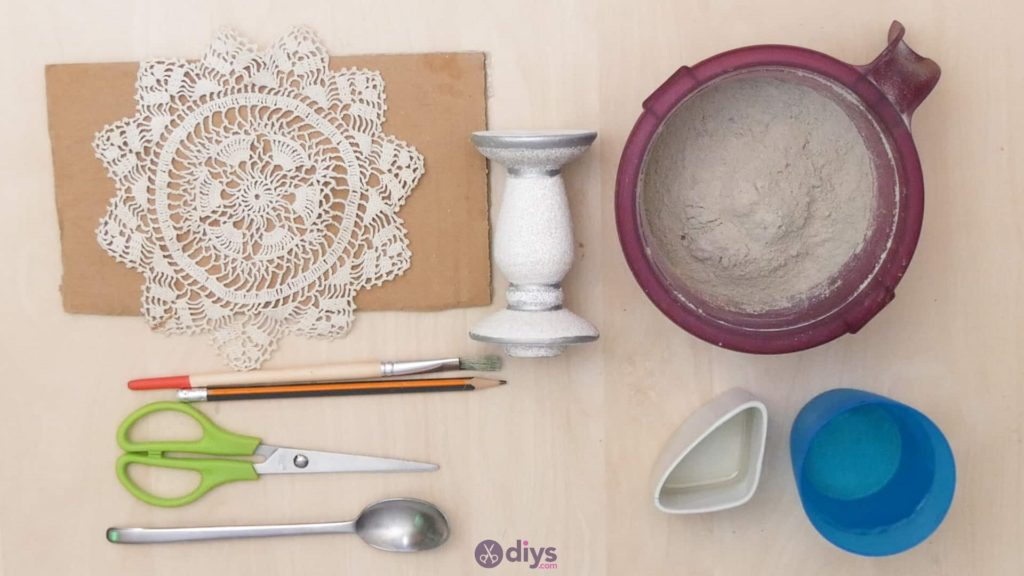 Diy concrete doily stand materials
