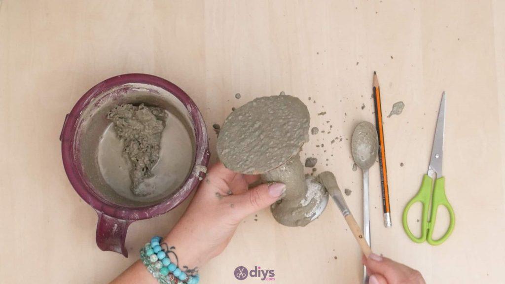 Diy concrete doily stand step 7a