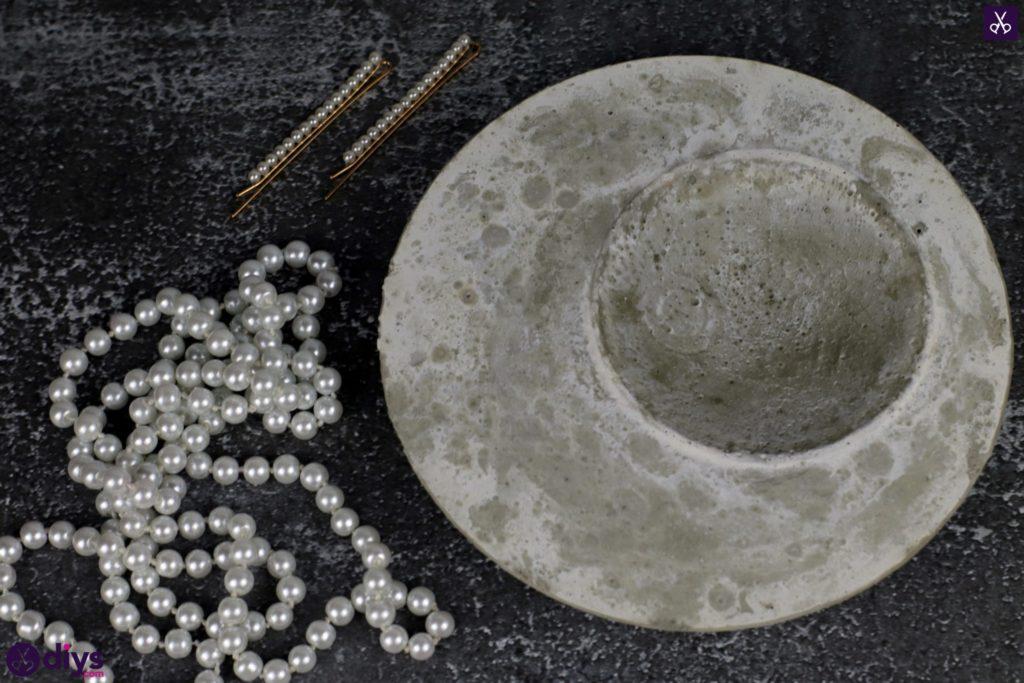 Diy concrete jewelry holder dish decor