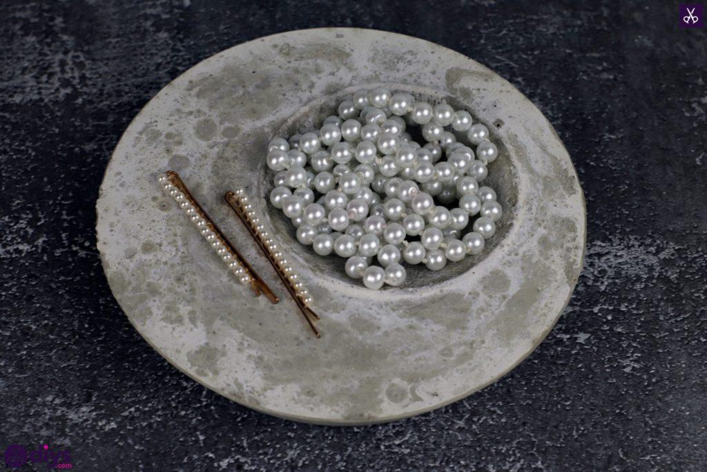 Diy concrete jewelry holder dish displauy