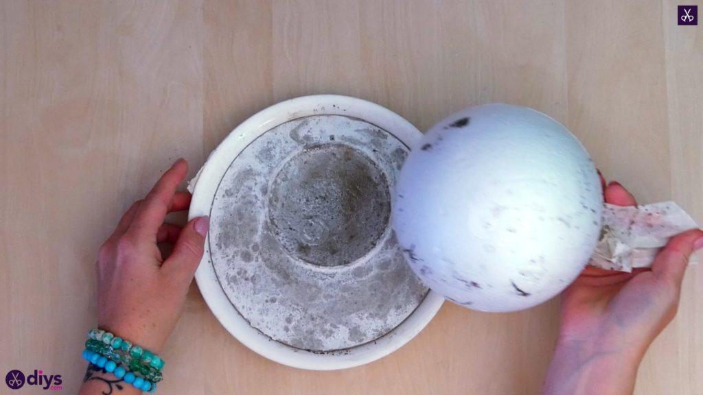 Diy concrete jewelry holder dish step 7a