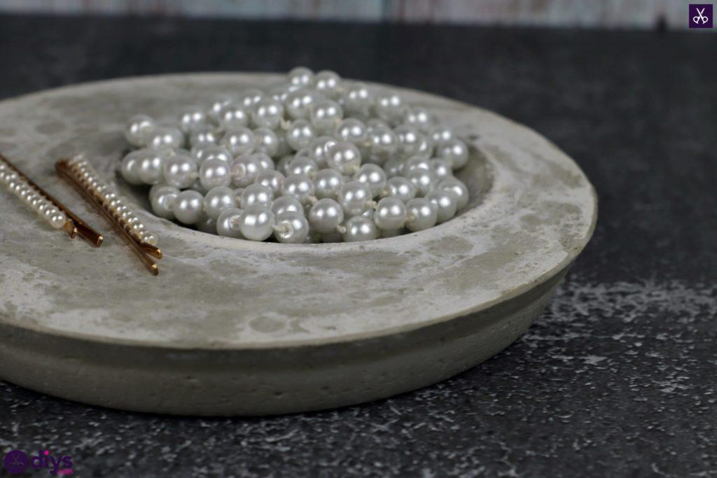 Diy concrete jewelry holder dish storage