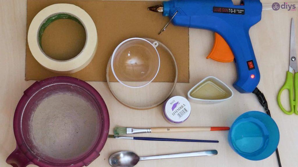 Diy concrete tiny bowl materials