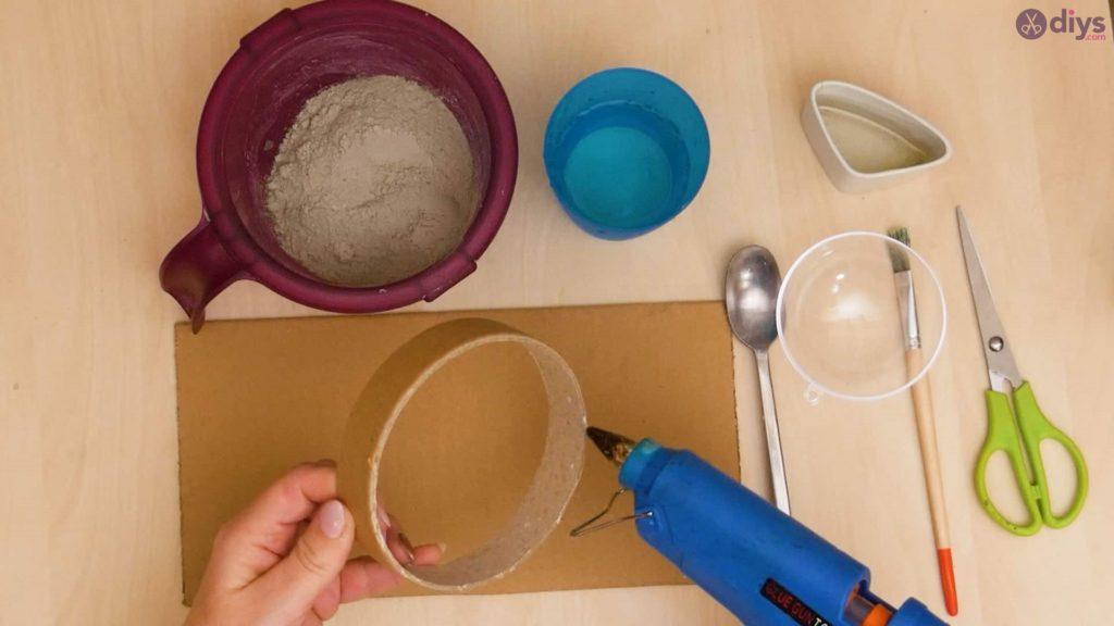 Diy concrete tiny bowl step 2