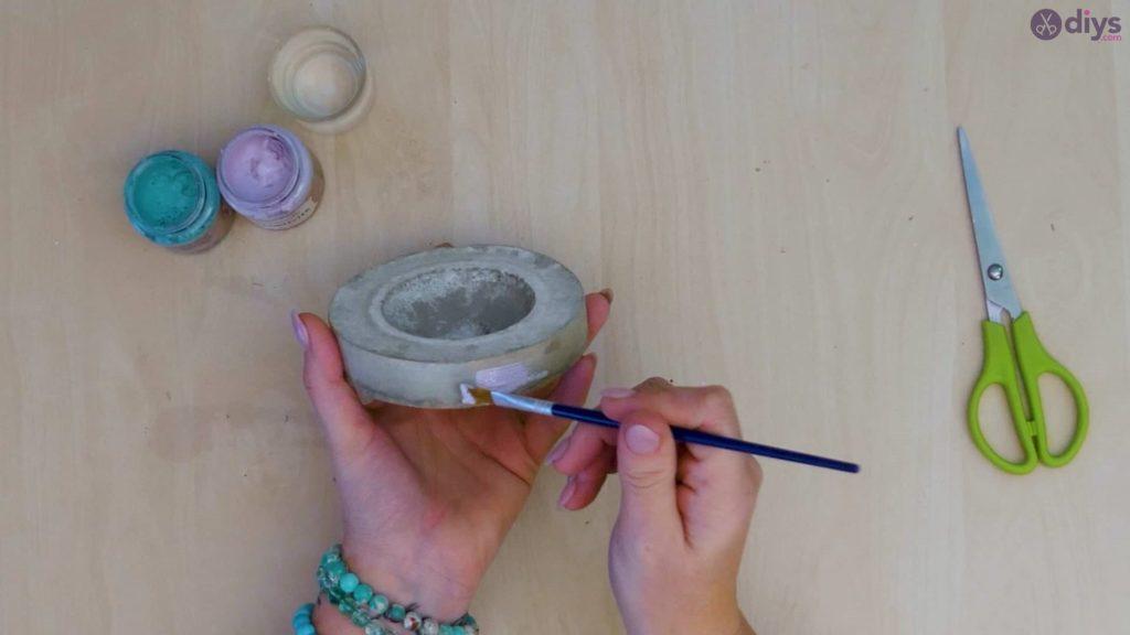 Diy concrete tiny bowl step 9
