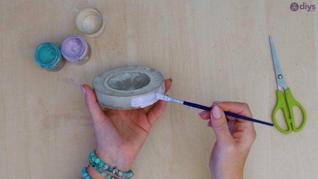 Diy concrete tiny bowl step 9a