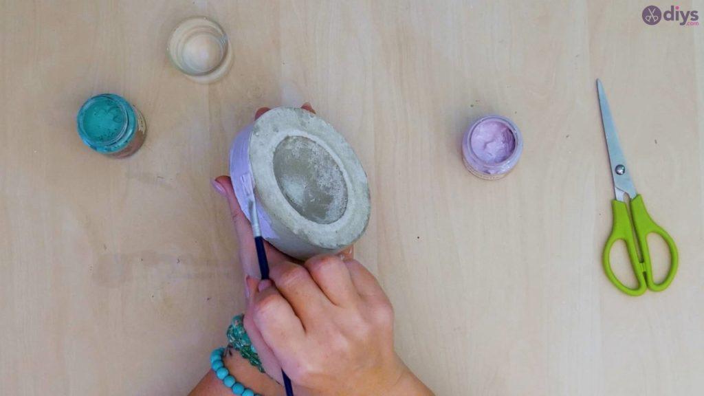 Diy concrete tiny bowl step 9b